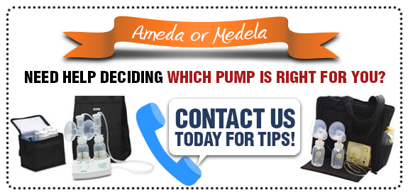 Ameda or Medela Need deciding which pump is right for you? Contact up today for tips!