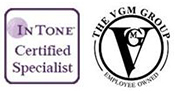 In Tone Certified Specialist logo and The VGM Group logo