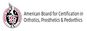 American Board for certification in orthotics, prosthetics and pediatrics logo