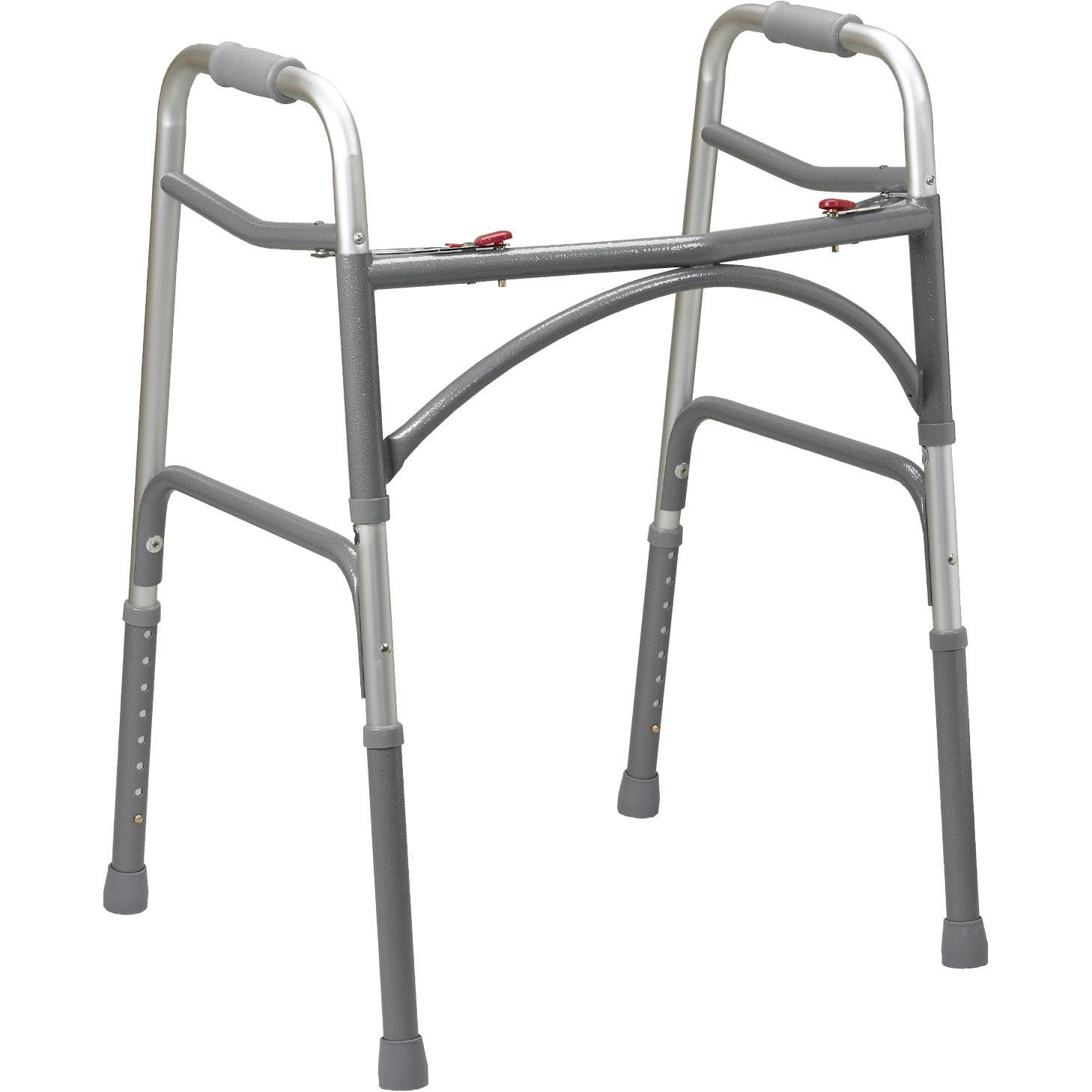 Bariatric (Wider & Deeper Frame Design) Aluminum Folding Walker, Two Button