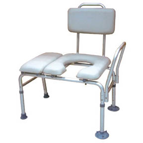 K.D. Combination Padded Transfer Bench and Commode