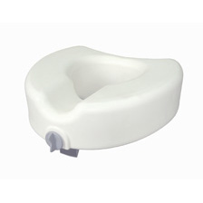 Premium Plastic Elevated, Regular/Elongated Toilet Seat with Lock