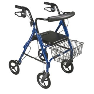 D-Lite, Aluminum Rollator, 8'' Casters with Loop Locks and Tool Free Removable Wheels