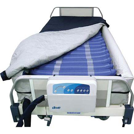 Alternating Pressure Mattress Replacement System with Low Air Loss with Defined Perimeter
