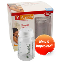 Breast Milk Storage Bottles- Ameda- 4 ct