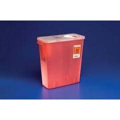 Covidien Kendall 8950sa - Sharps Container w/ Lid 5 Quart Red