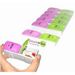 Detach N Go 7 day AM/PM Jumbo Pill Box