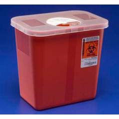 Kendall Container Sharps Red 2 Gal