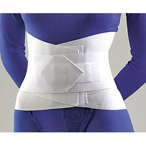 LUMBAR SACRAL SUPPORT WITH OVERLAPPING ABDOMINAL BELT 10''