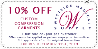 20% Off Medical Compression Stockings Limit one coupon per customer Offer cannot be applied to patient co-pays or deductibles